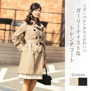 スプリングコート トレンチコート レディース コート Coat ブラック etc 【春 コート】 母の日...