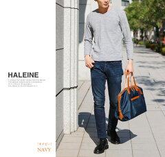 HALEINE[アレンヌ]牛革栃木レザーナイロンボストンバッグ/メンズ(No.07000073-mens-1)