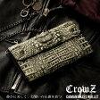 [Crowz]クローズ カイマン ベリー 多機能 長財布 カード入れ ホワイト MEN's 財布 サイフ ウォレット かぶせ型財布 メンズ 本革 紳士用 メンズ