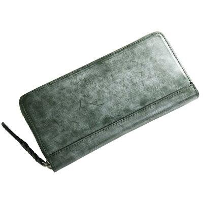メンズ長財布の革の種類 ブライドルレザー