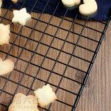 ケーキクーラー四角タイプ2サイズブラック炭素鋼便利手軽く調理キッチン台所多用途格子状の網クッキー、パンなど二も使える耐高熱