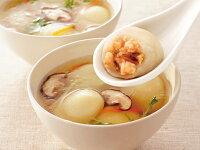 北海道産甘海老をつかったもちもちじゃが餃子調理写真