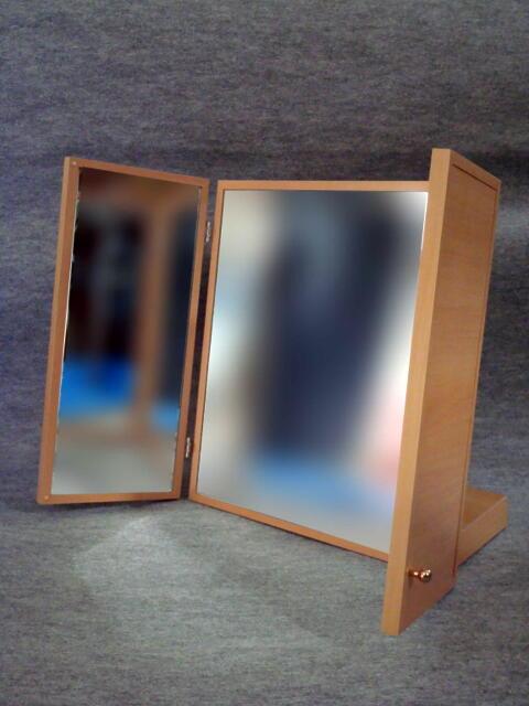 大型卓上三面鏡 ライト色 []】【お祝い】【記念品】【日本製】