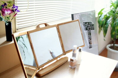 唯一の卓上本三面鏡。縦使用もできます。【smtb-KD】[送料無料]卓上三面鏡 ステイ(本三面鏡)