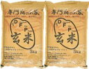元年産D.F.P.玄米5kg×2袋--無農薬玄米--無農薬無化学肥料栽培石川県産こしひかり