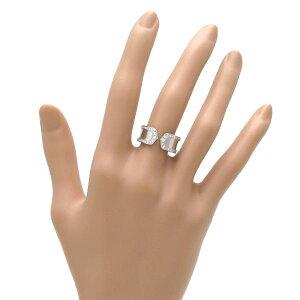 【送料無料】【】カルティエC2リング/エッジダイヤモンド♯52(日本サイズ12号近辺)【無料ギフトラッピング】【Aランク】