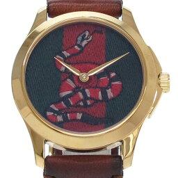グッチ Gタイムレス キングスネーク 126.4 メンズ 腕時計【Bランク】(中古)