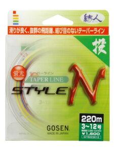 【40%OFF】ゴーセン(GOSEN) ナイロンライン テーパーラインSTYLE N(スタイル エヌ) GT-817 170m(4色分け) 2-8号〜6-12号  (投)