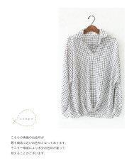 できる女のチェックスタイルトップス/シャツ