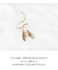 天使の羽のゴールドピアス