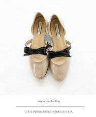 上品な中のスパイスリボン足元まで美しさを追求して靴/シューズ/パンプス