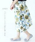 【再入荷♪5月9日22時より】ペイントアートで大胆に描くお花スカート(メール便不可)◆◇◇