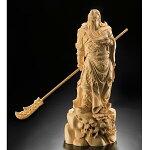 黄楊一杢彫り関羽像
