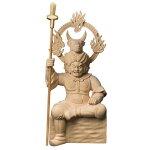 檜一杢彫り牛頭天王(ごずてんのう)-疫病を鎮め災いを防ぐ最強神