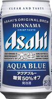 アサヒ本生アクアブルー350ml6缶パック24本入り1ケース