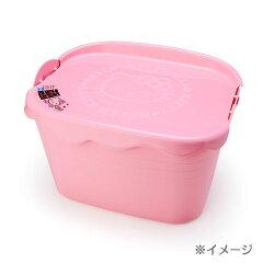 ハローキティやわらかバケツカク用ふたピンク