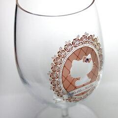 ハローキティペアワイングラス(フラワーフレーム)