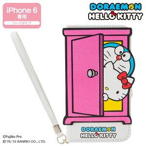 ドラえもん×ハローキティ 手帳型iPhone 6ケース(どこでもドア)