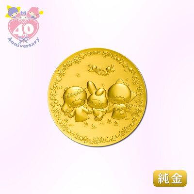 マイメロディ&リトルツインスターズ40th 純金製メダル