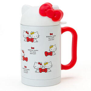 ハローキティ キティ形フタ付きステンレスマグカップ