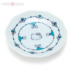 ハローキティ九谷焼小皿(花つづり)