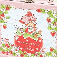 ハローキティ×ストロベリーショートケーキ缶トランク