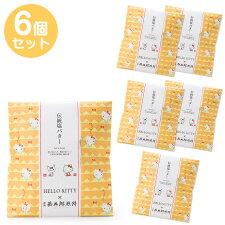 ハローキティ×日光甚五郎煎餅 伝統塩バターせんべい6個セット