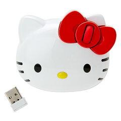 ハローキティフェイス形ワイヤレスマウス