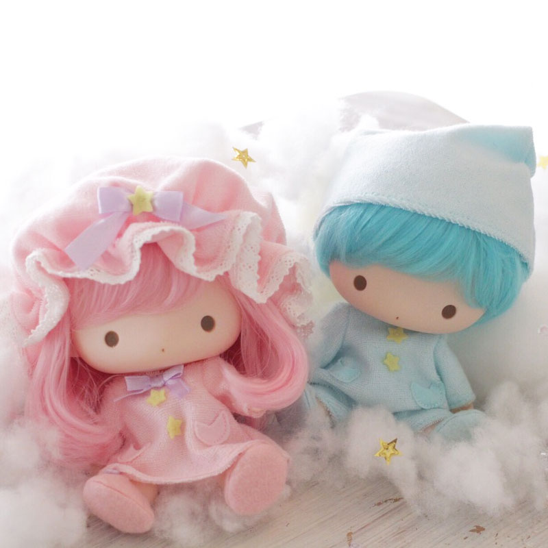 Little Twin Stars Soft Vinyl Doll Set Pajamas January