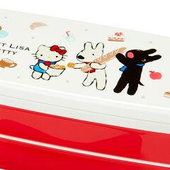 リサとガスパール×ハローキティ2段ランチボックス