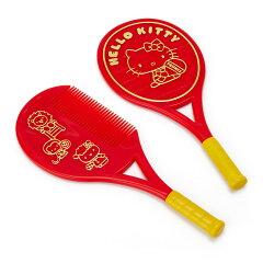 ハローキティラケット形ミラー&コーム(テニス)