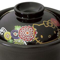 ハローキティ萬古焼ごはん鍋2合炊き(菊)