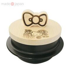 ハローキティ萬古焼木蓋ごはん鍋1合炊き(菊)