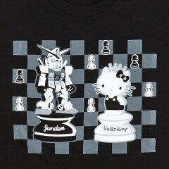 ガンダムvsハローキティTシャツ(チェス柄)