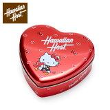 ハローキティ Hawaiian Host ハート缶入りマカデミアナッツチョコレート