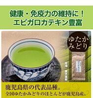 お茶100g×2袋!高機能品種茶2個セットゆたかみどりとさえみどりが選べます。【お茶】【煎茶】【緑茶】【2015年新茶】【深蒸し茶】【鹿児島茶】【ぐり茶】【日本茶】【ポッキリ_1000円】【02P07Feb16】