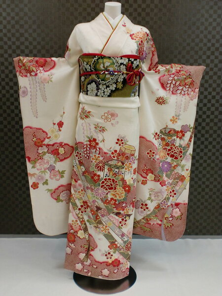振袖 ふりそで 振袖レンタル 着物 フルセット 送料無料 結婚式 成人式 着物レンタル 古典柄 レトロ L-5004