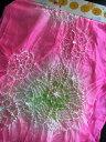 へこ帯 兵児帯 子供へこ帯 おこさまへこおび 七五三 浴衣帯 ピンク色 【正絹】 【パールトーン加工】 【クロネコDM便164円対応】