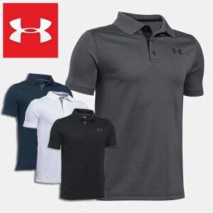 アンダーアーマー ポロシャツ 半袖 4WAYストレッチ ジュニア UNDER ARMOUR Performance Polo Boys Golf Short Sleeve Shirt UPF30+ 1290341 子供用 男の子 スポーツ ウェア*