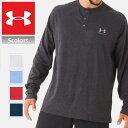 アンダーアーマー ロング Tシャツ メンズ ヘンリーネック 長袖 UNDER ARMOUR SPORTS WEAR LONG SLEEVE HENLY ロゴ 大きいサイズ ブランド 1272423