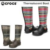 【超目玉 残り僅か!】【レディース】クロックス サーマルーセント ブーツ Crocs Thermalucent Boot ブーツ 長靴 レインブーツ/送料無料