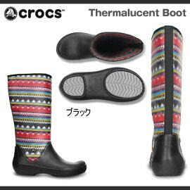【レディース】クロックスサーマルーセントブーツCrocsThermalucentBootブーツ長靴レインブーツ【RCP】