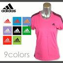 【メール便をご指定で送料無料】adidasT-SHIRTS/アディダスレディースTシャツ綿100%