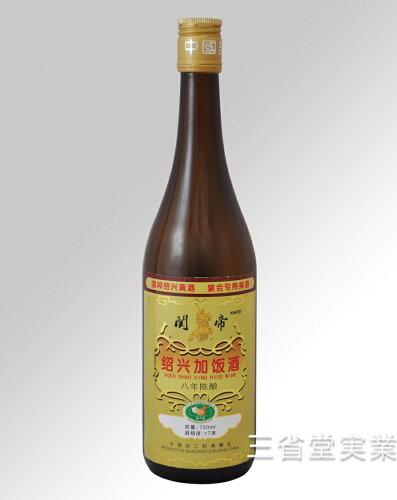 関帝陳年8年加飯酒 [金ラベル] 17度 750ml×12本 SK0128 1...