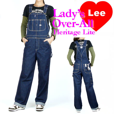 Lee (リー) レディース オーバーオール/サロペット -ワンウォッシュ- LL0255/Heritage Lite 【送料...