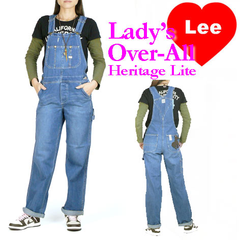 Lee (リー) レディース オーバーオール/サロペット -やや薄めのユーズドブルー- LL0255/Heritage L...