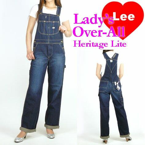 Lee (リー) レディース オーバーオール/サロペット -濃いめのユーズドブルー- LL0255/Heritage Lit...