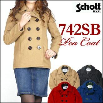 Schott/Lady's (shots) 742 SB BOYS PEACOAT / peacoat pre-made in USA-7130