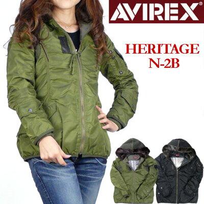 【5%OFF】★ミリタリーテースト溢れるアビレックスのジャケット。★フードのファーが可愛いモデ...