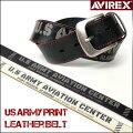 AVIREX(アビレックス)USARMYプリントレザーベルト/AX4108-長さ調節できます♪-【smtb-k】【ky】【楽ギフ_包装】